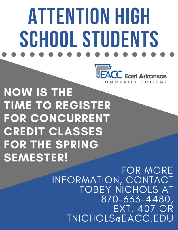 Register at EACC for Concurrent Credit Classes