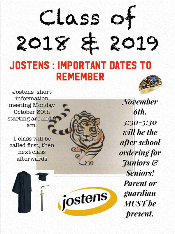 Jostens: Important Dates to Remember